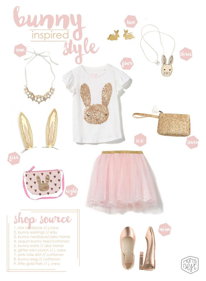 EASTER/SPRING STYLE GUIDE: Bunny Inspired Style for your sweet little cotton-tail www.momsbestnetwork.com