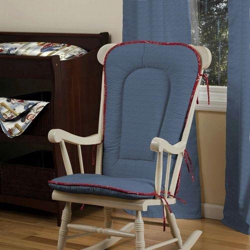 Western Cowboys Rocking Chair Pad  Carousel Designs  nursery items ...