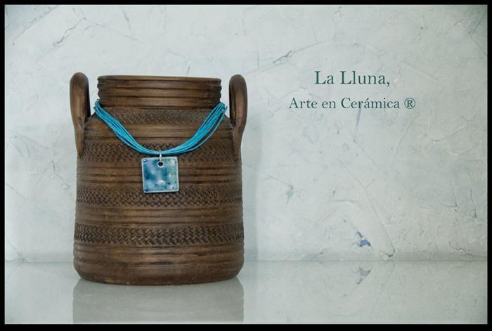 """Línea """"Agua"""" de La Lluna, Arte en Cerámica ® #marmuñoz #lallunaceramica #arteydiseño #bisuteria"""