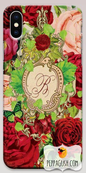 Vintage Monogrammed phone case perfect for a red hot valentine ❤️ 🌹 made to order for iPhone and Samsung