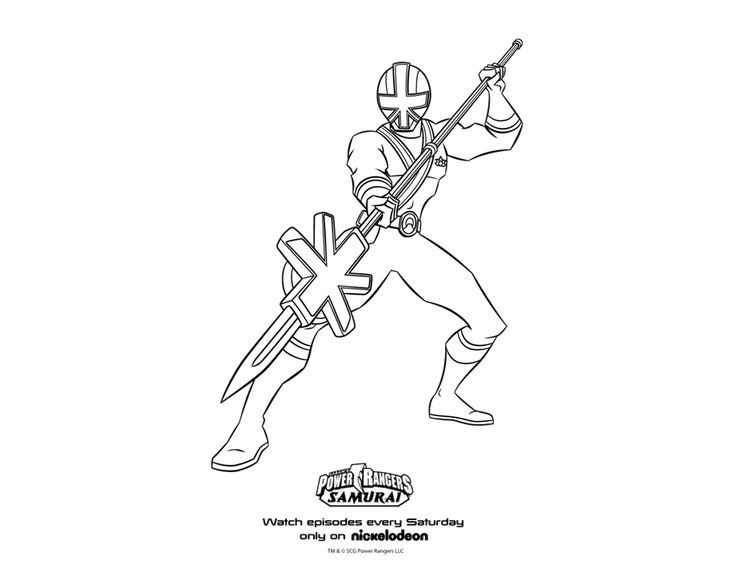 green power rangers samurai coloring pages Enjoy Coloring
