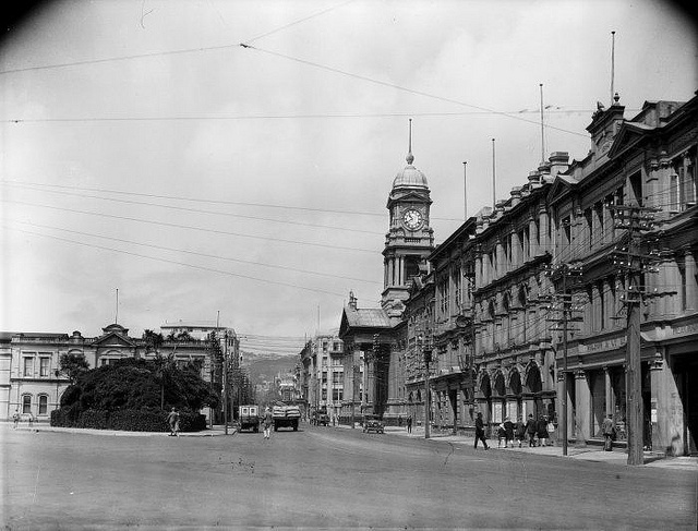 Cuba Street, Wellington, [1923-1934] by National Library NZ on The Commons, via Flickr