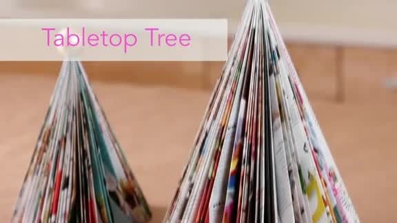 Creative Holiday Crafts for Kids: Tabletop Tree (via FamilyFun Magazine) Magazines...