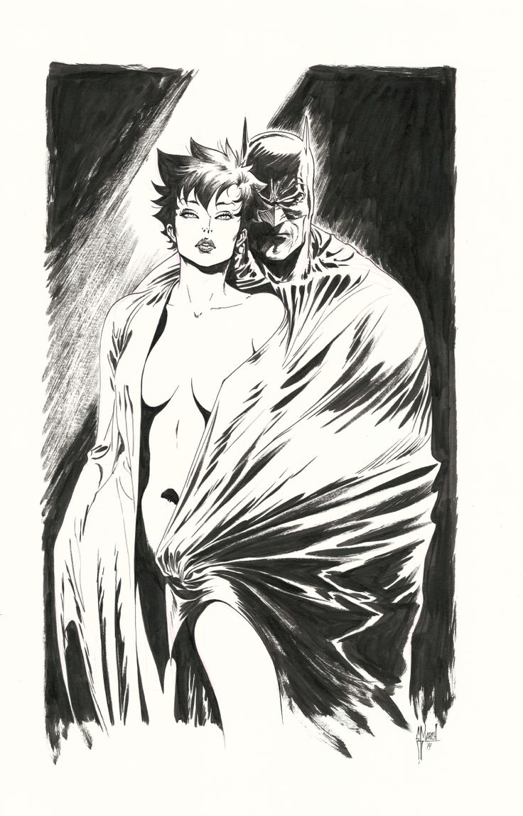 Batman and Catwoman Guillem March Comic Art