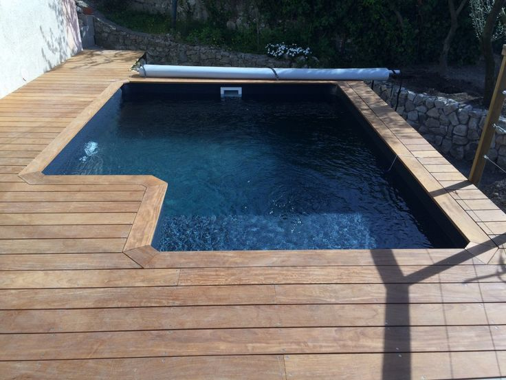 8 best mini piscines en bois images on pinterest petite for Mini piscine hors sol