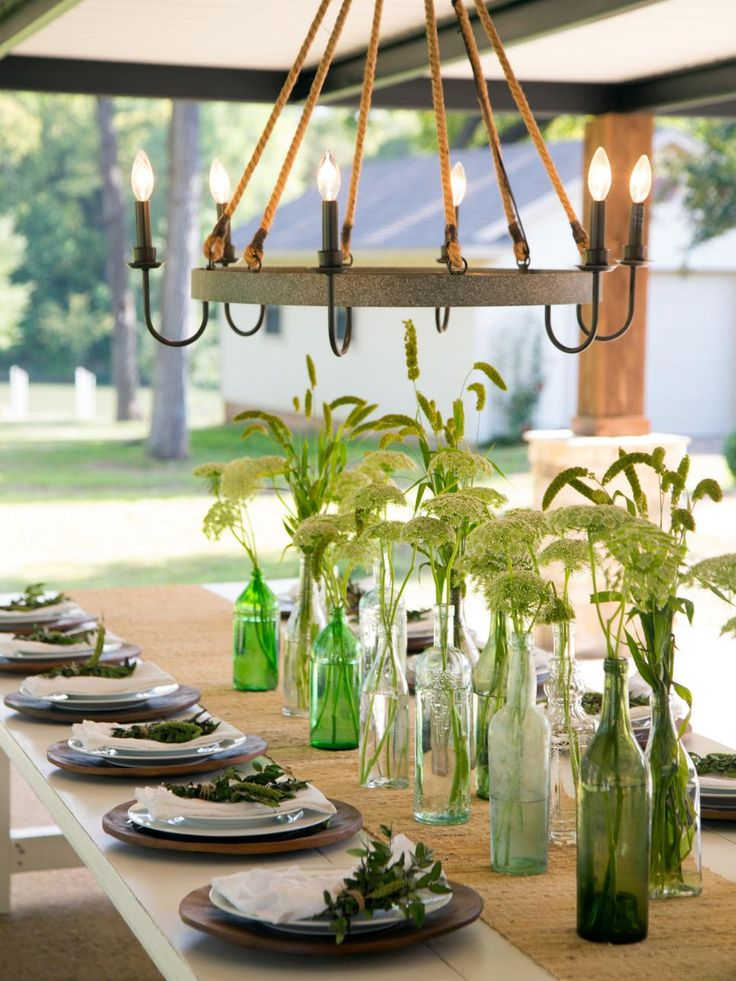 How to Style an Outdoor Dining Table Joanna gaines decor