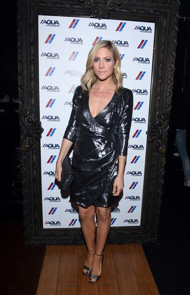 Actress Brittany Snow attends a private event at Hyde Staples Center hosted by AQUAhydrate for the Drake and Future concert.