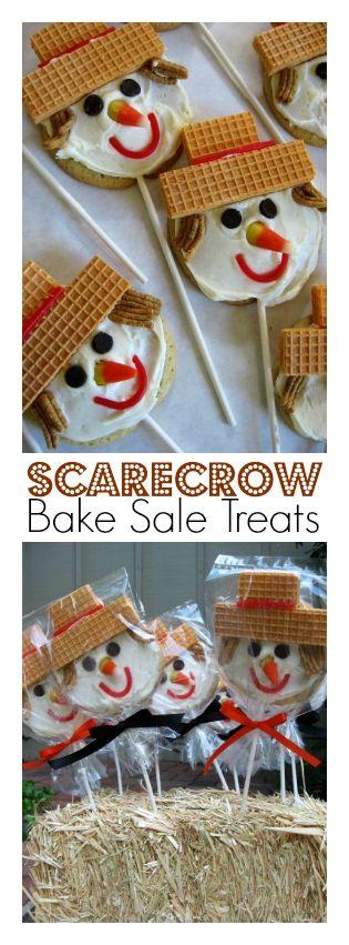 Scarecrow Bake Sale Treats: Margaret's Sugar Cookies   ReluctantEntertainer.com @SkiptomyLou #Halloween
