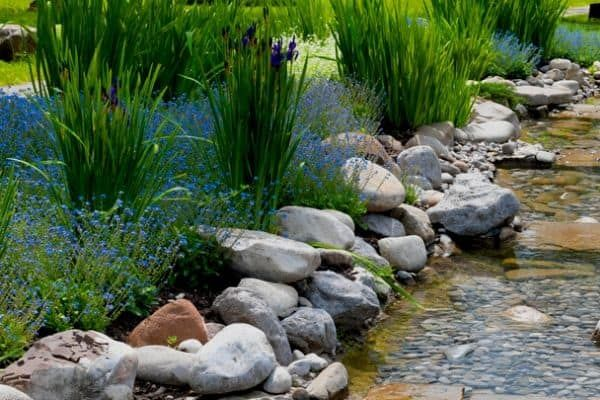 how to build a stream water feature