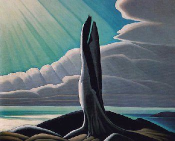 """""""North Shore of Lake Superior"""" by Lawren Stewart Harris (October 23, 1885 – January 29, 1970) Harris was a Canadian painter born in Brantford, Ontario, who was one of the best known landscape painters of the Group of Seven, a group of artists who set out to create a distinctly Canadian art ~ I've sat for hours in the National Gallery (Ottawa) watching the light play on this PRT"""