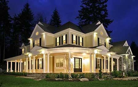 Love, love, love this house!  Looking at the floor plans I love everything down to the wrap around porch!Country Porches, Home Plans, Floors Plans, Dreams Home, Luxury House, Dreams House, Country Home, Wraps Around Porches, House Plans