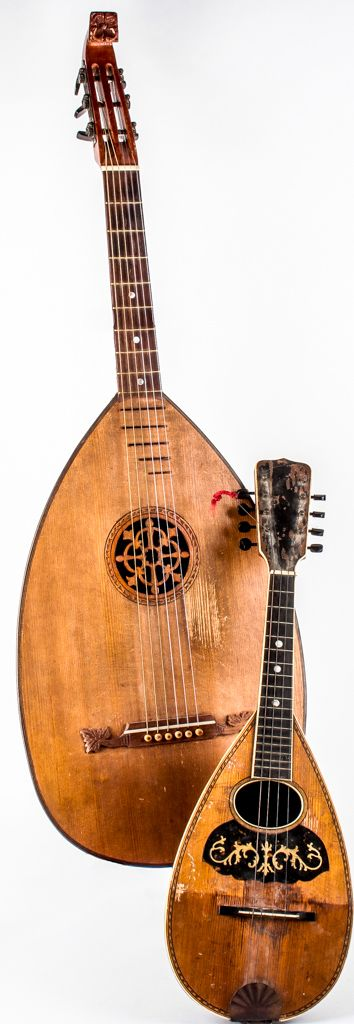 """Lot 19 in the 7.21.15 online & live auction! Two vintage instruments used in a wide variety of music styles, from Bluegrass, to Island, """" Beach Rock """", and more! #Music #Instrument #Mandolin #Decor #POGAuctions"""