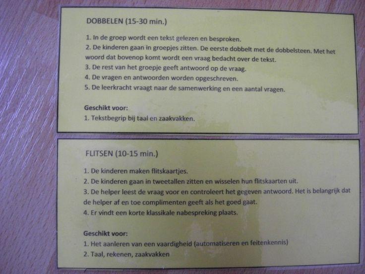 Dobbelen: De leerlingen maken vragen over de gelezen tekst met de 5W en H vragen