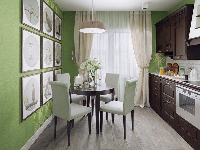 Кухня. Дизайн интерьера однокомнатной квартиры, ул. Оккуловская, 40 кв.м.