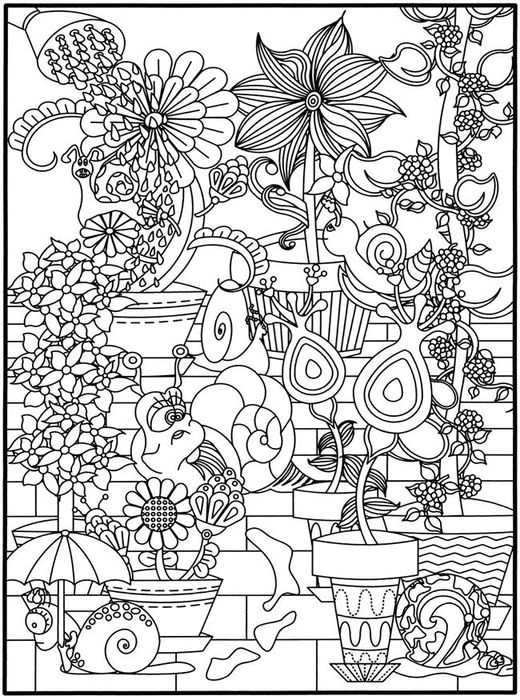 whimsical flowers coloring pages - photo#17