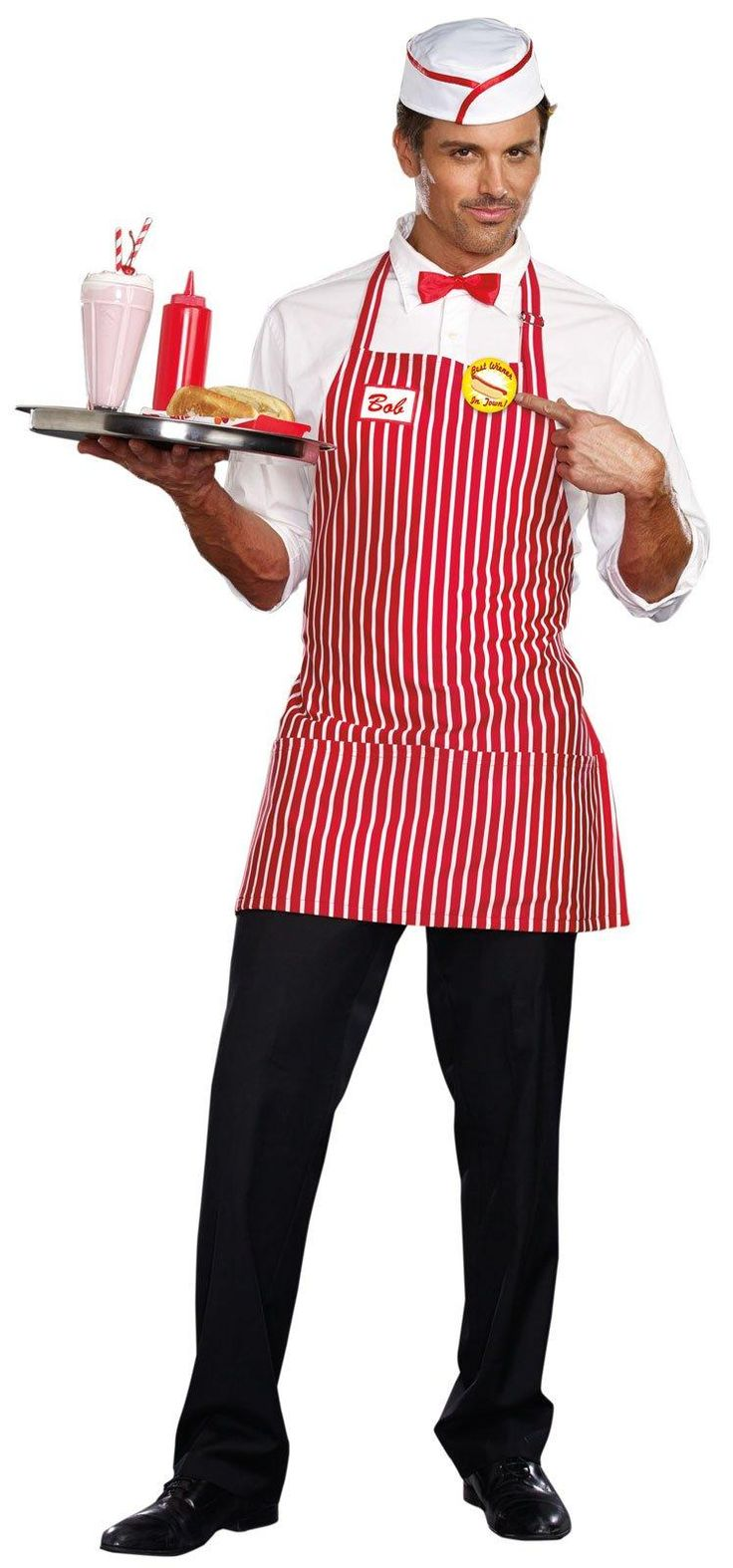 Diner Dude Costume For Men | Diners Costumes and Sock hop costumes
