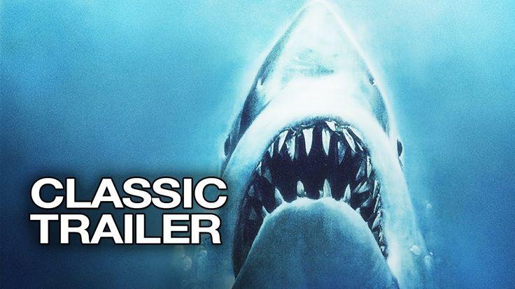 """""""Jaws"""" - """"Dødens Gab"""" Official Trailer 1  Steven Spielberg Movie 1975 - Også en film, der dengang gav mig adrenalin for nogle dage."""