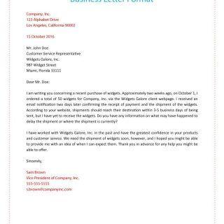 Formal Business Letter 01