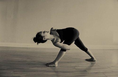 Baddha Parivritta Trikonasana/ Revolved Triangle pose variation..