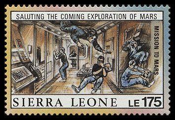 Космическая станция (марка Сьерра-Леоне, 1990 г.)