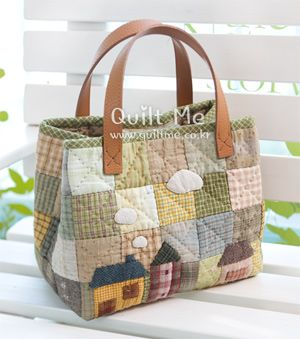 quilt americano - Country House remendo Sacola]