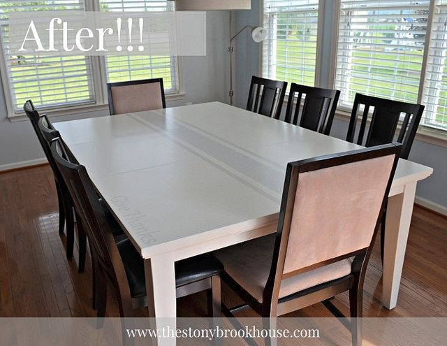 ugly dining table no more house blogs dining room tables how to paint