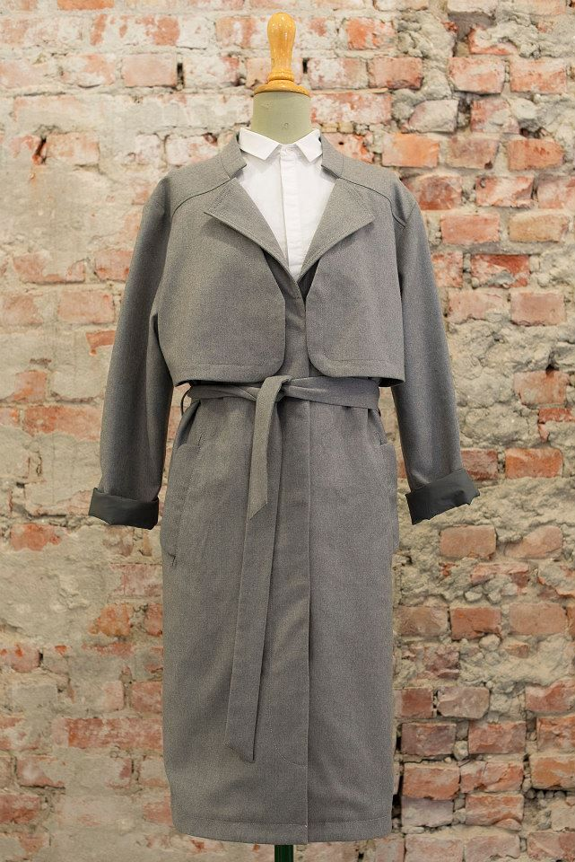 J.Novogratz Trench Coat 90% recycled wool 10% Cashmere  designed by Moire