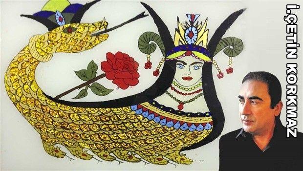 Şahmeran  İran-Pers hikayelerinde (mitolojisinde) rastlanan akıllı ve iyimser olarak tanımlanan bellerinden aşağısı yılan, üstü ise insan şeklindeki maran adı verilen, doğaüstü yaratıkların başında bulunan ve hiç yaşlanmayan, ölünce ruhunun kızına geçtiğine inanılan varlık. İsmail Çetin Korkmaz,Seyyah, Şahmeran