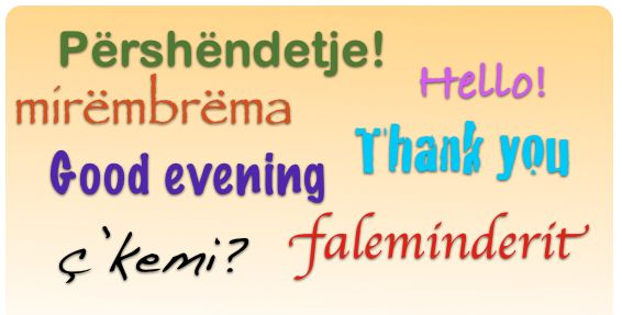 Albanian greetings: http://www.learnalbanianlanguage.com/Pages/free_online_course.aspx