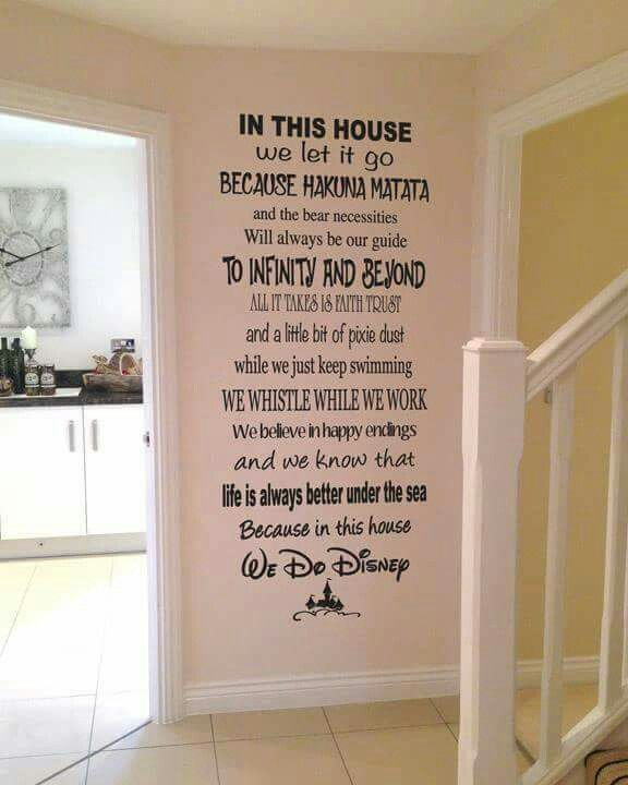 That'll be me.  Disney house