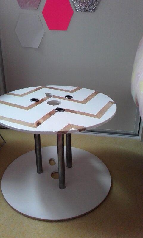 Bobine de cable->table de chevet