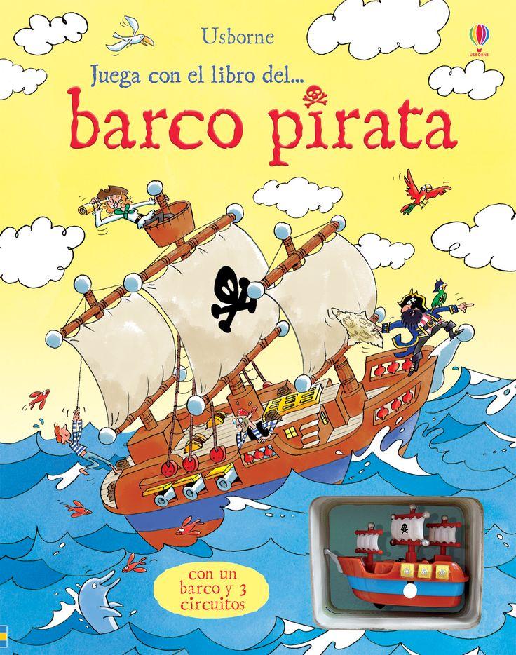 Libro con historias que incorporan un barco pirata de cuerda y varios circuitos para interpretarlas.  #libro #libros #infantiles #niños #paraniños #lecturainfantil #literaturainfantil #piratas #barco #pirata #juguete