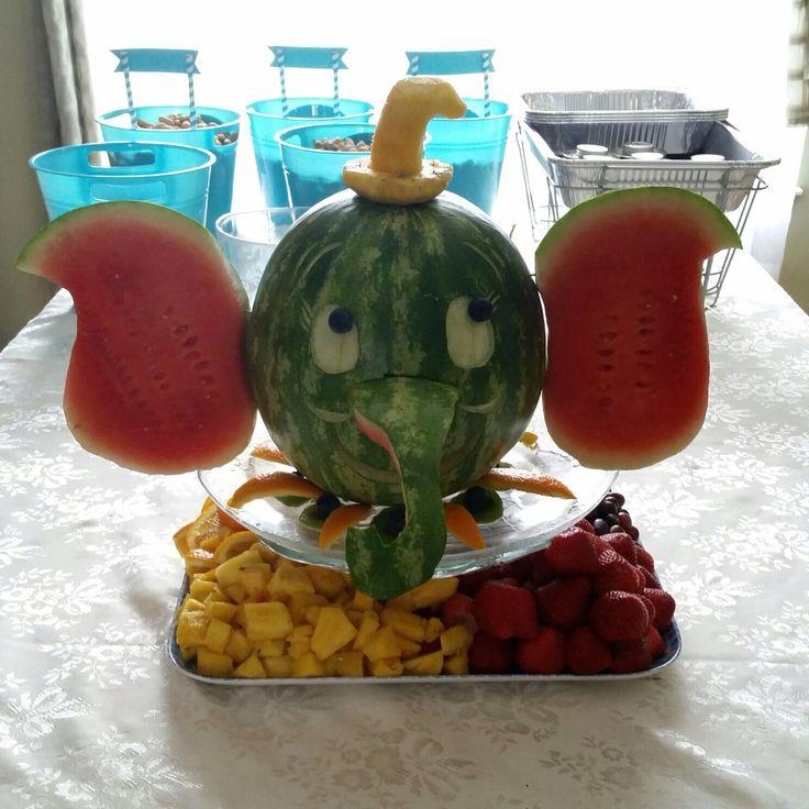 Watermelon elephant did it pinterest