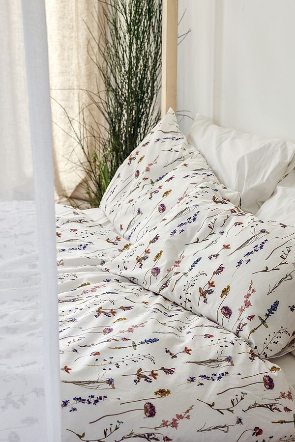 Pressed Flowers Duvet Cover Set Bed Linens Luxury Duvet Cover Master Bedroom Duvet Cover Sets