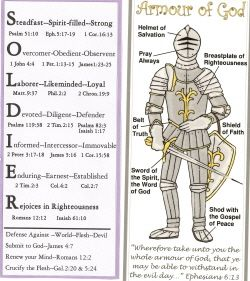 Armor Of God Soldier Free Bookmark Find This Pin And More On Childrens Bible Coloring Pages