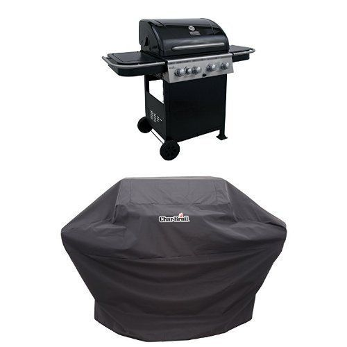 Char-Broil 520 4-Burner Cart Gas Grill   Cover *** You can get additional details at the image link.