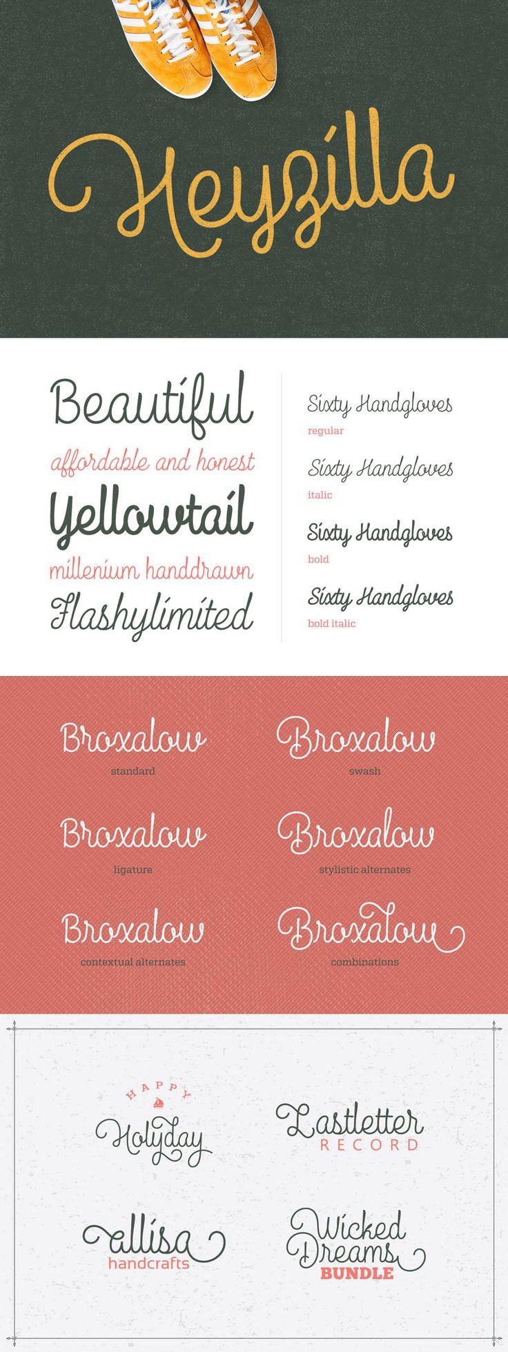 Vintage script fonts loving