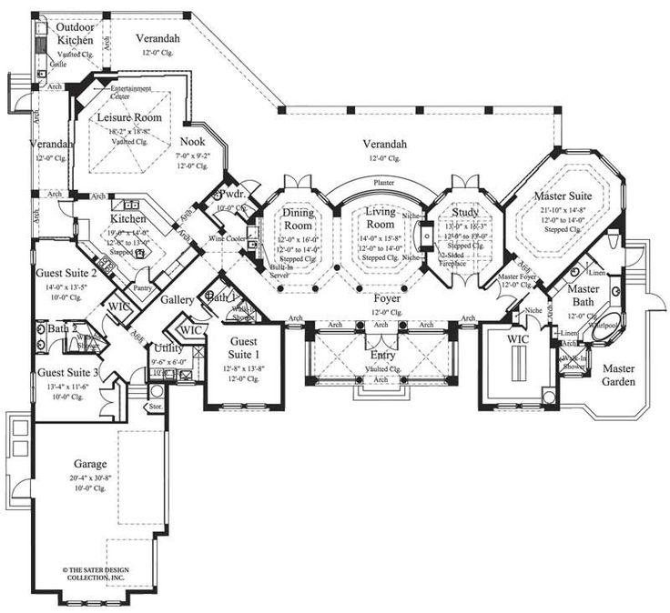 Luxury Mediterranean Style Home Plans: 17 Best Ideas About Luxury Mediterranean Homes On