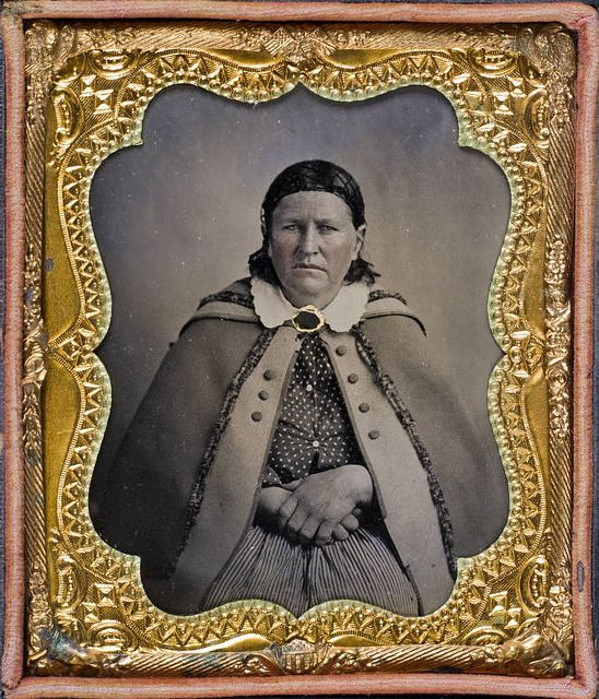 Cynthia Ann Parker, captured by Comanches  when she was nine.  She lived with the Comanche for twenty-four years and it the mother of Quanah Parker.---