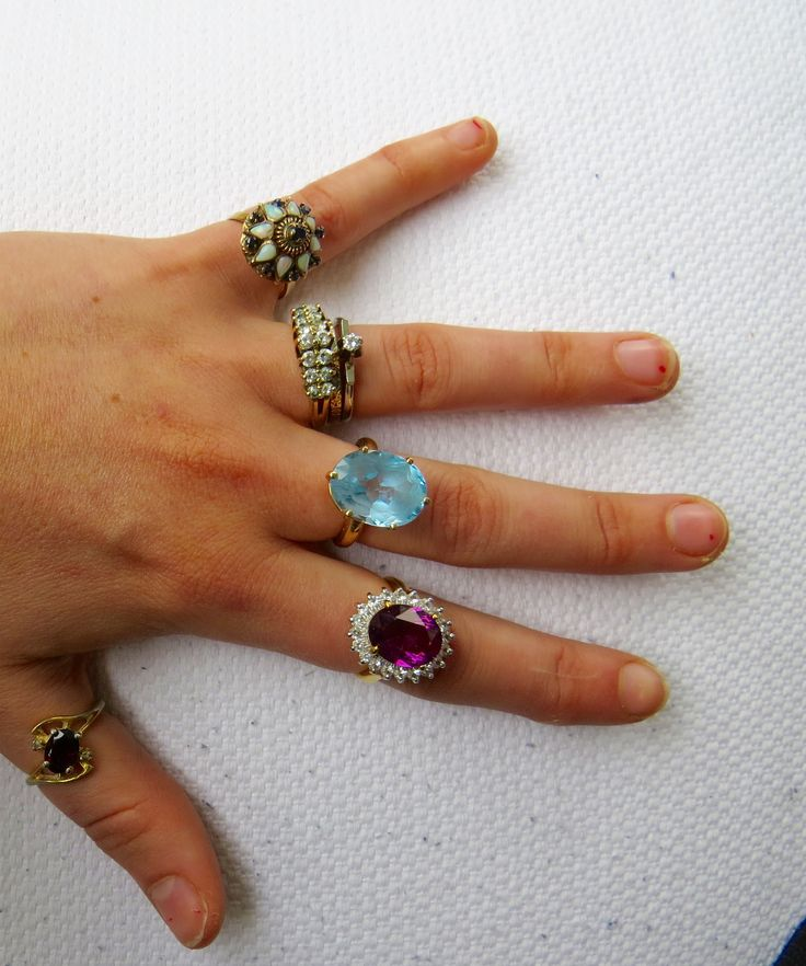 Rings given to me by my dear Nana. She is 99 years old, gifting me with beautiful jewelry when I come home for a visit.
