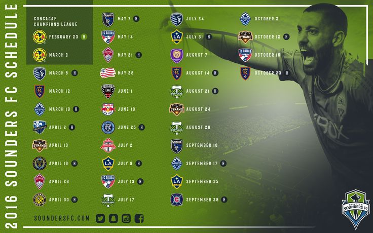 Sounders FC 2016 Schedule Wallpaper | Seattle Sounders FC