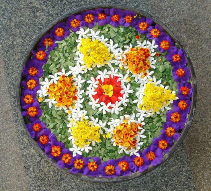 68 best Flower Rangoli.. images on Pinterest | Flower ...