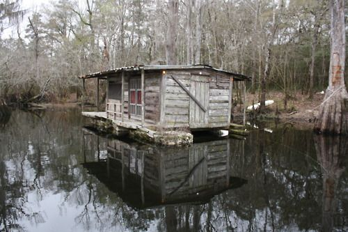 I always wanted a floating shack/ pontoon town