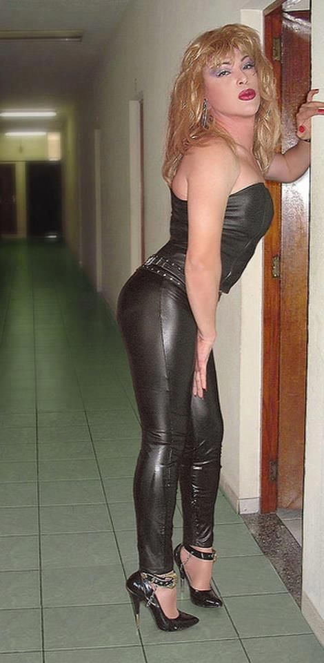 transexuals in leather pants