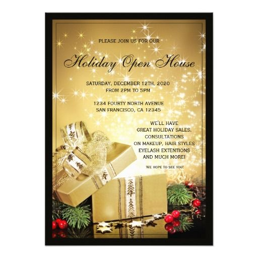 holiday open house flyer - Leonescapers