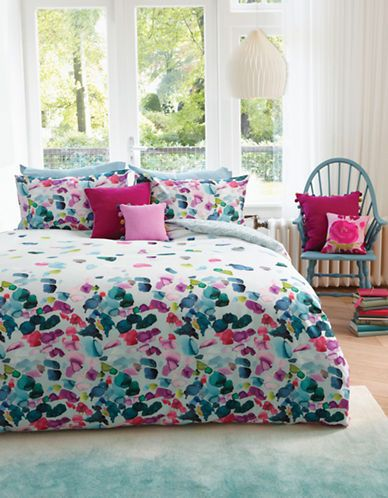 BLUEBELLGRAY - Petals Watercolour Floral Duvet Set (Queen) - The Bay
