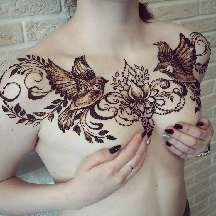 modern mehndi design for chest hd