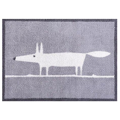 Buy Turtle Mat Scion Mr Fox Doormat, Grey Online at johnlewis.com