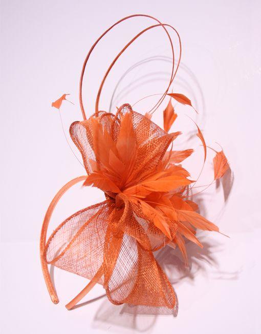 Image result for orange fascinator