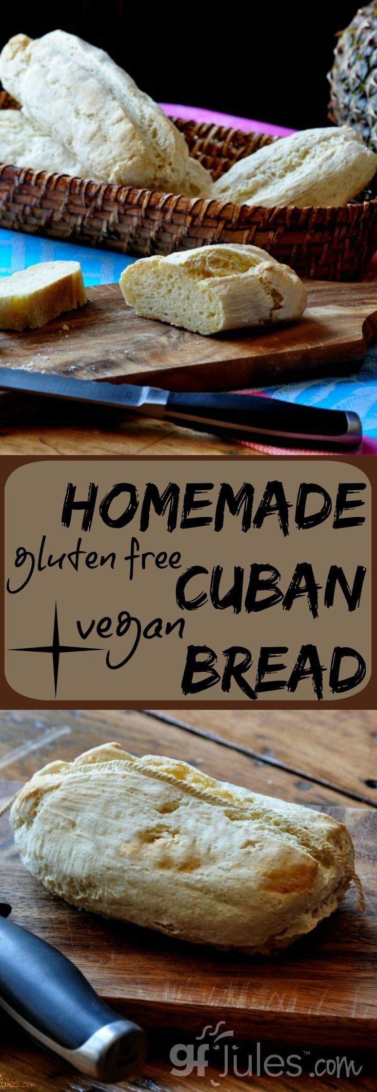 "Gluten Free & Vegan Cuban Bread ... tastes like ""Real Cuban Bread!"" Makes incredible sandwiches, too!"